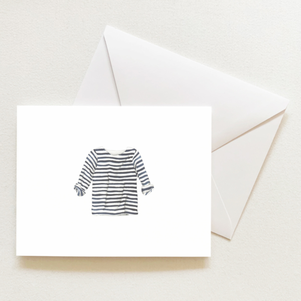 Navy + White Striped Shirt
